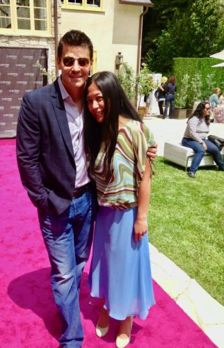 Chrome Girl launch with David Boreanaz and Reena De Asis