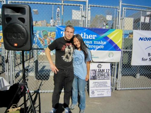 MLK Jr Day with Shepard Fairey and Reena De Asis