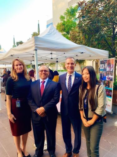 Homeless Connect Day with Christina Miller, Jaime Pacheco-Orozco and Mayor Eric Garcetti